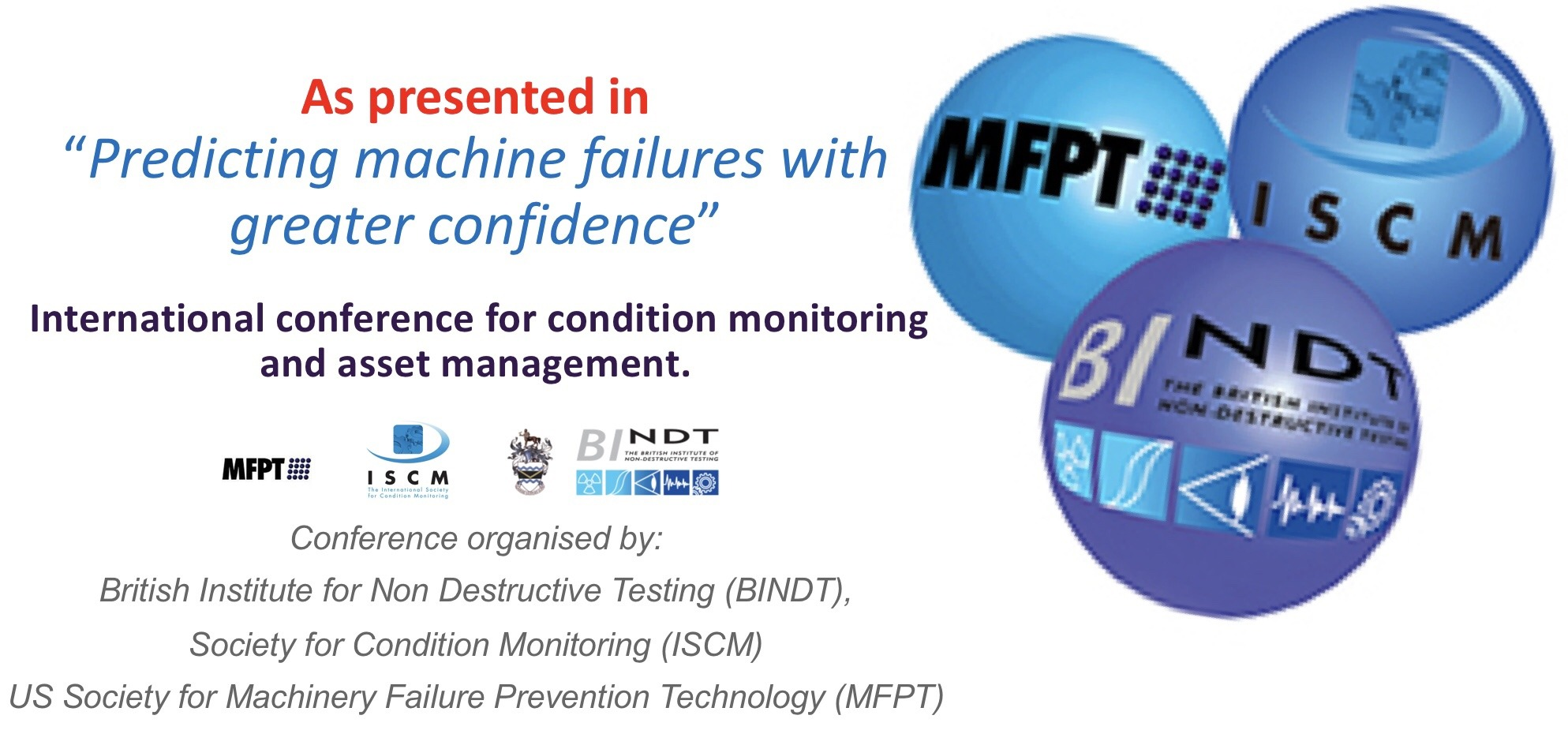 Bindt CM conference 2019, LubeWear explained. Oil analysis, failure modes reduced.